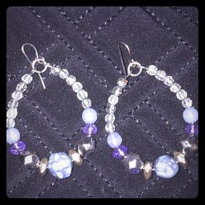 Jewelry - Purple Dangle Earrings